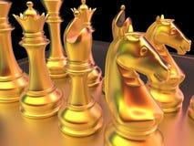 Μάχη σκακιού Στοκ εικόνα με δικαίωμα ελεύθερης χρήσης