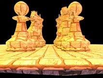 Μάχη σκακιού Στοκ Εικόνες