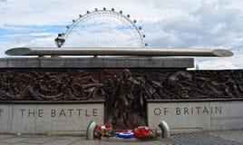 Μάχη του αγάλματος της Μεγάλης Βρετανίας Στοκ Εικόνες
