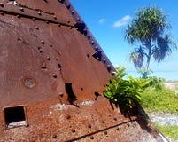 Μάχη του πολεμικού λειψάνου Tarawa Στοκ Φωτογραφία
