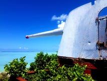 Μάχη του πολεμικού λειψάνου Tarawa Στοκ Φωτογραφίες
