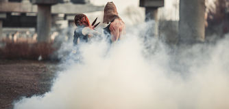Μάχη δύο μεταλλάξεων Στοκ Φωτογραφίες