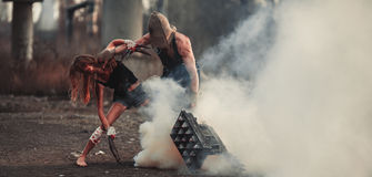 Μάχη δύο μεταλλάξεων Στοκ εικόνες με δικαίωμα ελεύθερης χρήσης