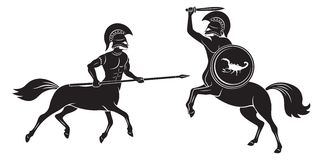 Μάχη Centaurs Στοκ Φωτογραφίες