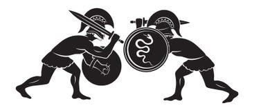 Μάχη gladiators Στοκ εικόνες με δικαίωμα ελεύθερης χρήσης