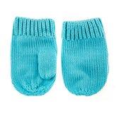 Μάλλινα γάντια μωρών Στοκ εικόνες με δικαίωμα ελεύθερης χρήσης