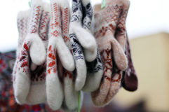 Μάλλινα γάντια Στοκ εικόνα με δικαίωμα ελεύθερης χρήσης