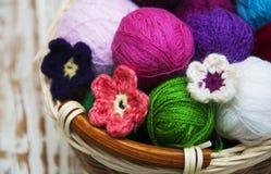 Μάλλινα κουβάρια χρώματος Στοκ Εικόνες
