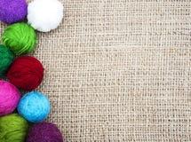 Μάλλινα κουβάρια χρώματος Στοκ φωτογραφίες με δικαίωμα ελεύθερης χρήσης