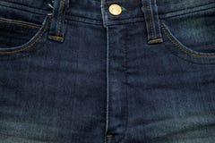 Μάλλον παλαιός μπλε Jean έχει τις συστάσεις λωρίδων και φερμουάρ Στοκ εικόνες με δικαίωμα ελεύθερης χρήσης