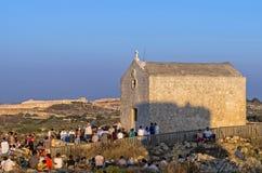 Μάλτα, απότομοι βράχοι Dingli Στοκ Φωτογραφίες