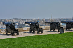 Μάλτα, η γραφική πόλη Valletta Στοκ Φωτογραφίες