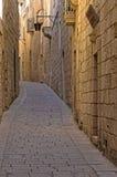 Μάλτα, Mdina, σιωπηλή πόλη στοκ εικόνα