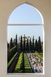 Μέγαρο της άποψης Bahji Στοκ Εικόνες