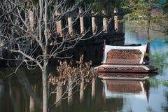 μέγα ναός Ταϊλάνδη πλημμυρών ayut Στοκ Φωτογραφία