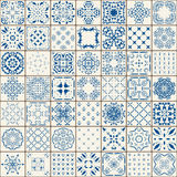 Μέγα πανέμορφο άνευ ραφής σχέδιο προσθηκών από τα ζωηρόχρωμα μαροκινά κεραμίδια, διακοσμήσεις Μπορέστε να χρησιμοποιηθείτε για τη Στοκ Εικόνες