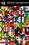 Μέγα συλλογή των γεωμετρικών αφηρημένων προτύπων υποβάθρου - το σχέδιο γραμμών, τετραγώνων, ορθογωνίων και βελών σχεδιάζει τα στο Στοκ εικόνα με δικαίωμα ελεύθερης χρήσης