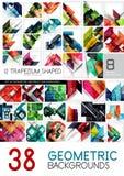 Μέγα συλλογή των γεωμετρικών αφηρημένων προτύπων υποβάθρου - το σχέδιο γραμμών, τετραγώνων, ορθογωνίων και βελών σχεδιάζει τα στο Στοκ φωτογραφία με δικαίωμα ελεύθερης χρήσης