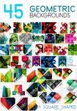 Μέγα συλλογή των γεωμετρικών αφηρημένων προτύπων υποβάθρου - το σχέδιο γραμμών, τετραγώνων, ορθογωνίων και βελών σχεδιάζει τα στο Στοκ Φωτογραφία