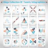 Μέγα συλλογή του σύγχρονου origami δέκα infographic Στοκ Φωτογραφία