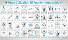 Μέγα συλλογή του σύγχρονου origami σαράντα infographic Στοκ φωτογραφία με δικαίωμα ελεύθερης χρήσης