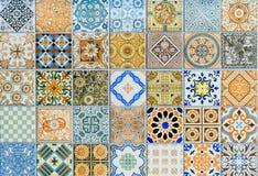 Μέγα σύνολο σχεδίων κεραμικών κεραμιδιών τοίχων από την Ταϊλάνδη Στοκ Εικόνες