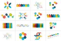 Μέγα σύνολο 6 infographic προτύπων βημάτων, διαγράμματα, γραφική παράσταση, παρουσιάσεις, διάγραμμα απεικόνιση αποθεμάτων