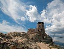 Μέγιστος πύργος επιφυλακής πυρκαγιάς Harney στο κρατικό πάρκο Custer στους μαύρους λόφους της νότιας Ντακότας στοκ εικόνες