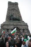 Μέγιστο μνημείο Shipka - ένα σύμβολο της απελευθέρωσης της Βουλγαρίας 3 Μαρτίου είναι η εθνική μέρα της Βουλγαρίας Στοκ Εικόνα