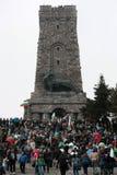 Μέγιστο μνημείο Shipka - ένα σύμβολο της απελευθέρωσης της Βουλγαρίας 3 Μαρτίου είναι η εθνική μέρα της Βουλγαρίας Στοκ Εικόνες