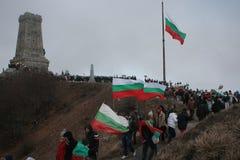Μέγιστο μνημείο Shipka - ένα σύμβολο της απελευθέρωσης της Βουλγαρίας 3 Μαρτίου είναι η εθνική μέρα της Βουλγαρίας Στοκ Φωτογραφία