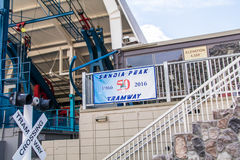 Μέγιστο Νέο Μεξικό του Αλμπικέρκη τροχιοδρομικών γραμμών Sandia Στοκ Εικόνα