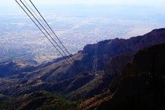 Μέγιστο τραμ Sandia στο Νέο Μεξικό στοκ εικόνα