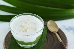 Μέγιστο Poon Bai Tuey Kati Sod ` ταϊλανδικό γλυκό ` Kanom στοκ εικόνες