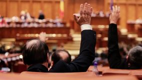 Μέλη των ρουμανικών βουλευτικών εκλογών απόθεμα βίντεο