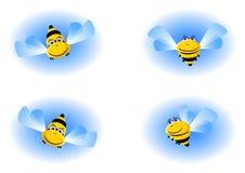 μέλισσα αστεία Διανυσματική απεικόνιση