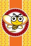 Μέλισσα και μέλι απεικόνιση αποθεμάτων