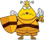 μέλισσα κινούμενων σχεδίων βασίλισσαη Armor Στοκ εικόνες με δικαίωμα ελεύθερης χρήσης