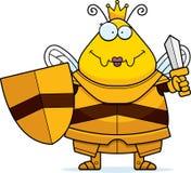 Μέλισσα κινούμενων σχεδίων βασίλισσα Armor Sword ελεύθερη απεικόνιση δικαιώματος