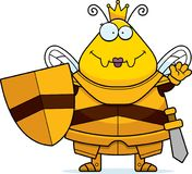 Μέλισσα κινούμενων σχεδίων κυματισμού βασίλισσα Armor ελεύθερη απεικόνιση δικαιώματος