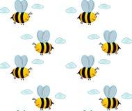 μέλισσα λίγος ουρανός διανυσματική απεικόνιση