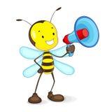Μέλισσα που αναγγέλλει Megaphone Στοκ Εικόνες