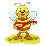 μέλισσα χαριτωμένη Στοκ Εικόνες