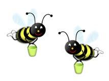 μέλισσες δύο Στοκ φωτογραφίες με δικαίωμα ελεύθερης χρήσης