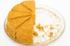 μέλι κέικ Στοκ Φωτογραφίες