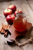 Μέλι και μήλα Στοκ εικόνα με δικαίωμα ελεύθερης χρήσης