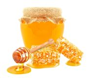 Μέλι και φέτα στοκ φωτογραφία