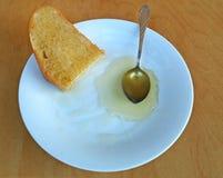 Μέλι με το ψωμί Στοκ Εικόνες