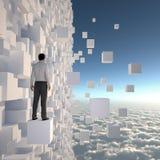 μέλλον επιχειρηματιών πο&upsi διανυσματική απεικόνιση
