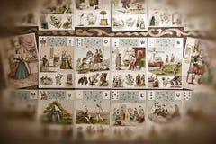 μέλλον καρτών Στοκ Εικόνες